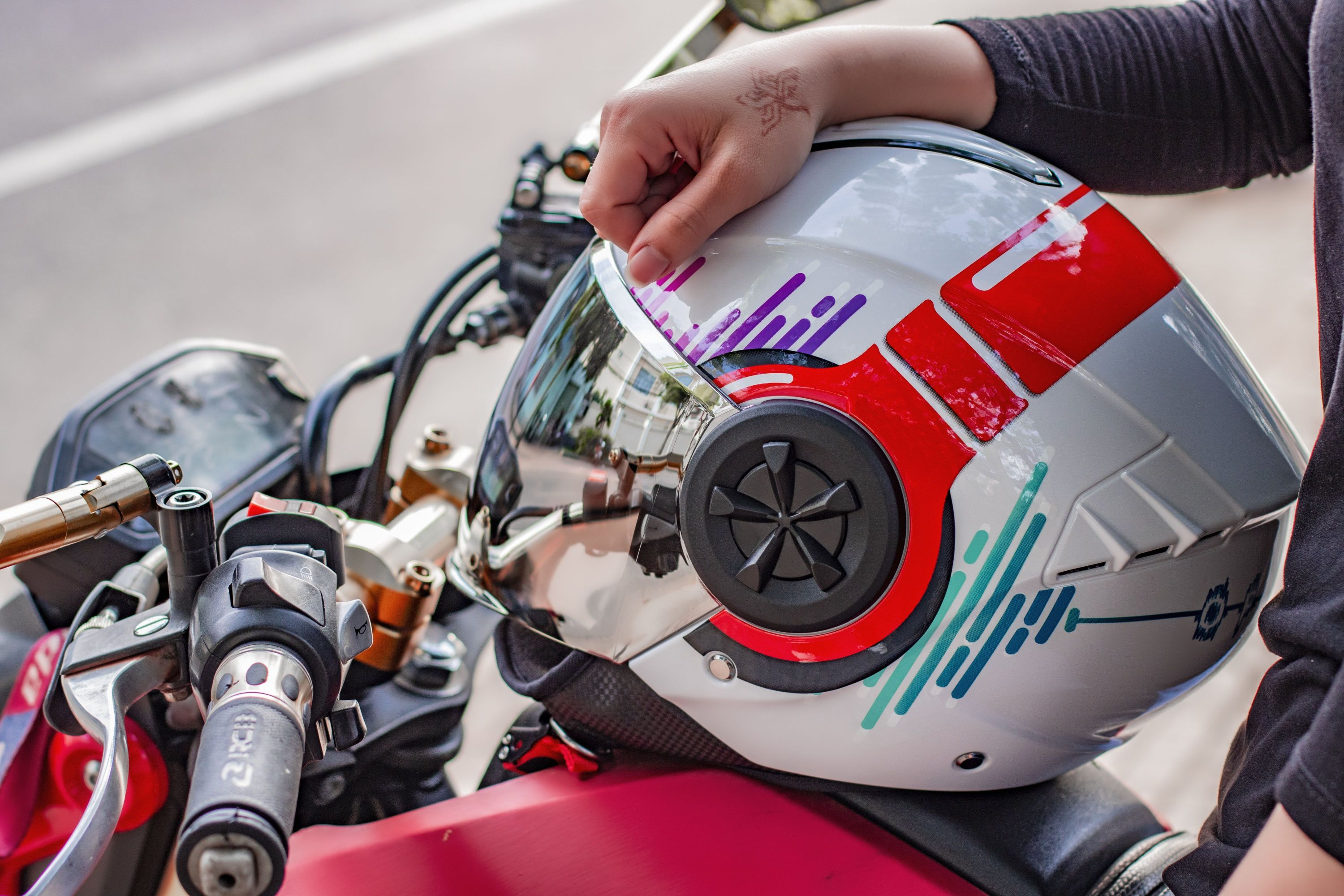 helmets and leathers